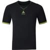 Odlo M's Ceramicool Seamless Shirt S/S Crew Neck black-safety yellow